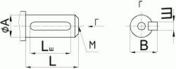 Редуктор червячный одноступенчатый универсальный, тип Ч. Ч-80. Присоединительные размеры цилиндрического конца входного вала.