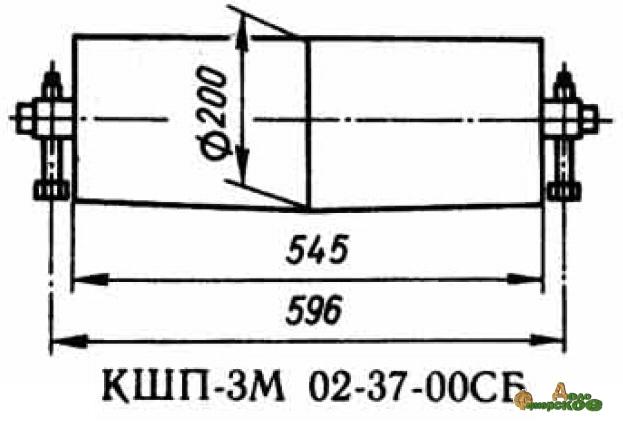 Барабан ведущий 02.37.00 запасная часть к Р6-КШП-6