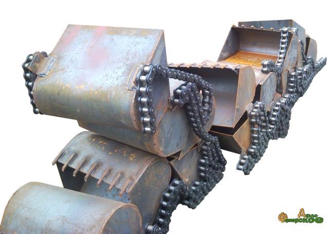Цепь с ковшами навозопогрузчика НПК-30 (НПК-Ф-35)