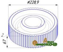 Колесо зубчатое НИ.11.12.202 (z-64)  редуктора НИ-11.12