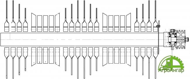Нож боковой УМВК-62.00.403 L=235 мм.