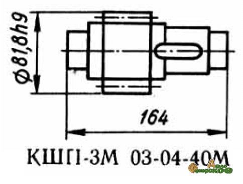 Вал-шестерня 03.04.40М z-14, m=5 запасная часть к Р6-КШП-6