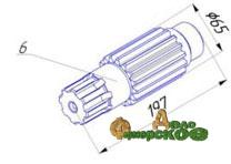 Вал-шестерня НИ.11.12.207 редуктора НИ-11.12