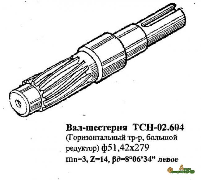 Вал-шестерня ТСН-02. 604