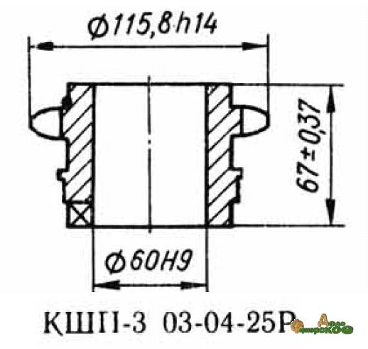 Звездочка 03.04.25 z-14, шаг t-25.4 Р6-КШП-6