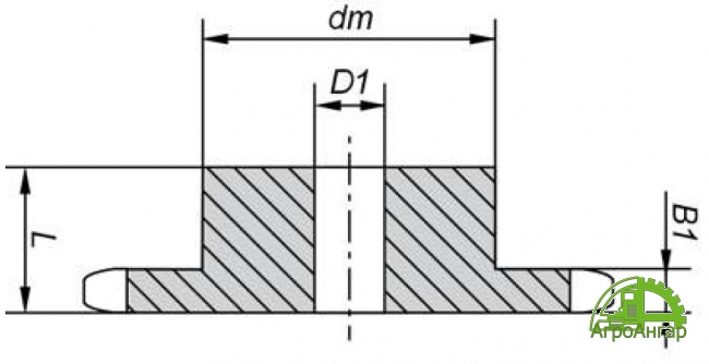 Звездочка 12B-1 (ПР-19,05) Z=30