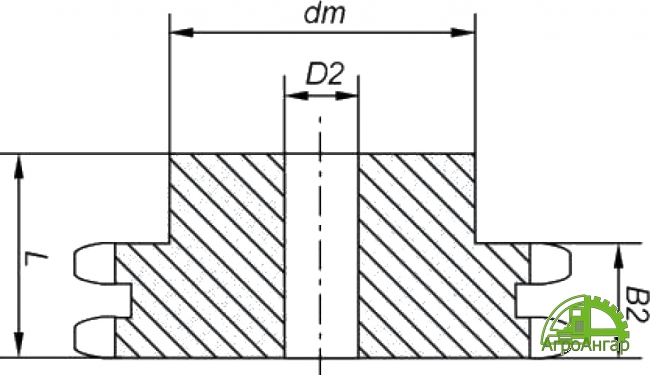 Звездочка 16B-2 (2ПР-25,4) Z=17