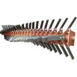 Вал фрезбарабана КФК-2,8 с ножами в сборе