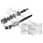 Вал с муфтой КПК 01.24.010 (в сборе) на шнек