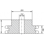 Звездочки 12B-2 (2ПР-19,05) Z=22