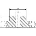 Звездочка 16B-2 (2ПР-25,4) Z=22