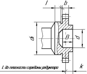 Размеры концов выходных валов редукторов КЦ1-250