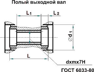 Мотор-редуктор МЧ, мотор-редуктор МЧ-100: полный выходной вал