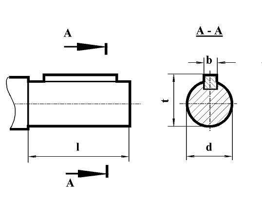 Редуктор РЦД, редуктор РЦД-250: размеры концов выходного цилиндрического вала