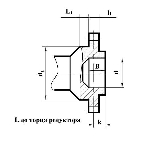 Зубчатая полумуфта редуктора РЦД-400