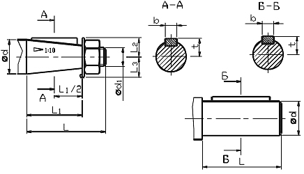 Мотор-редуктор МЧ, мотор-редуктор МЧ-100: размеры выходного вала