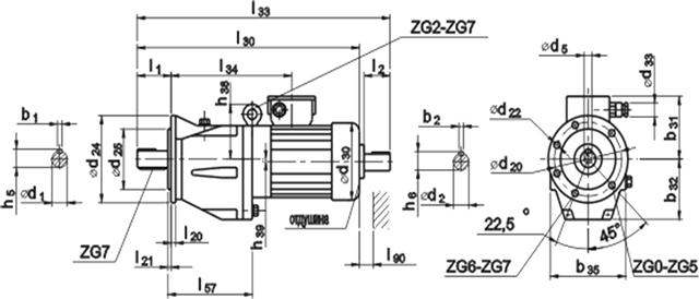 Мотор-редуктор KMR