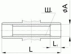 Редуктор червячный одноступенчатый универсальный, тип 2Ч и 2ЧМ. 2Ч-80 и 2ЧМ-80. Присоединительные размеры полого шлицевого вала. Выходного.