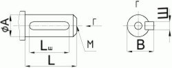 Редуктор червячный одноступенчатый универсальный, тип Ч. Ч-125. Присоединительные размеры цилиндрического конца входного вала.