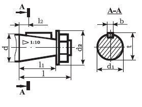 Редуктор Ц2-250: размеры конических валов