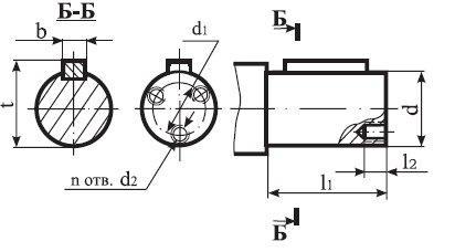 Редуктор Ц2-350: размеры выходного цилиндрического вала