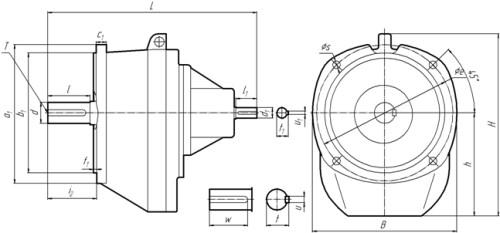 1Ц2С-100 фланцевое исполнение