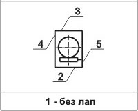 Редуктор РЧУ-125: варианты расположения лап по плоскостям