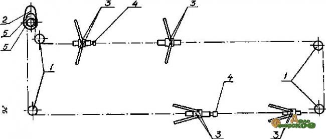 Дельтаскреперная установка УСГ-170/250 редуктором УСГ-00.010