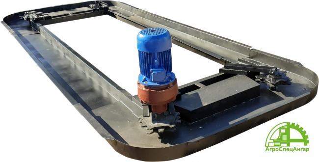 Горизонтальный транспортёр для опилок и стружки