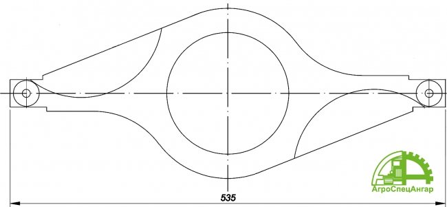 Нож противорежущий измельчителя Волгарь - 5 (сталь 40Х)
