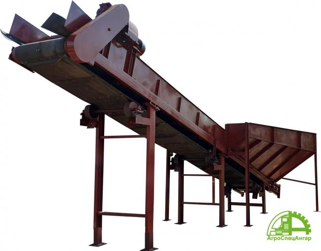 Приёмный бункер с подающим конвейером для переработки бытовых отходов