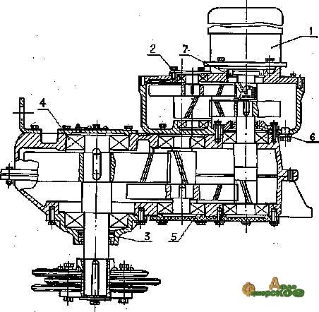 Редуктор (привод) УСГ-00.010 с механизмом реверсирования