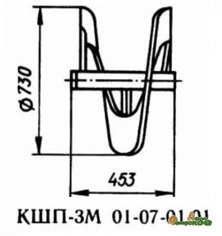 Шнек правый 01.07.01 01 запасная часть к Р6-КШП-6