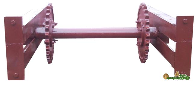 Вал ведомый (натяжной) НПК-30