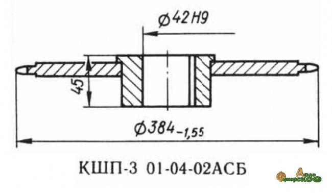 Звездочка 01.04.02 z-46, шаг t-25.4 Р6-КШП-6