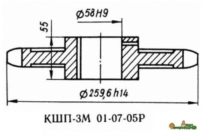 Звездочка 01.07.05 z-20, шаг t-38.1 Р6-КШП-6