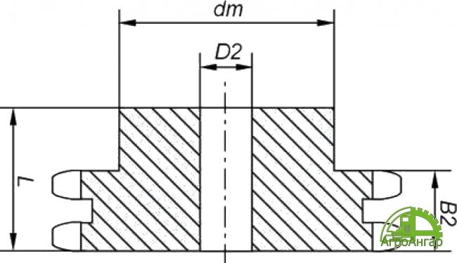 Звездочка 16B-2 (2ПР-25,4) Z=19