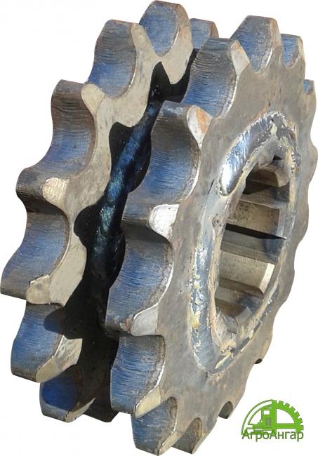Звездочка ПРТ-10.02.627 (ПРТ-10.02.800) двойная шлицевая Z-14